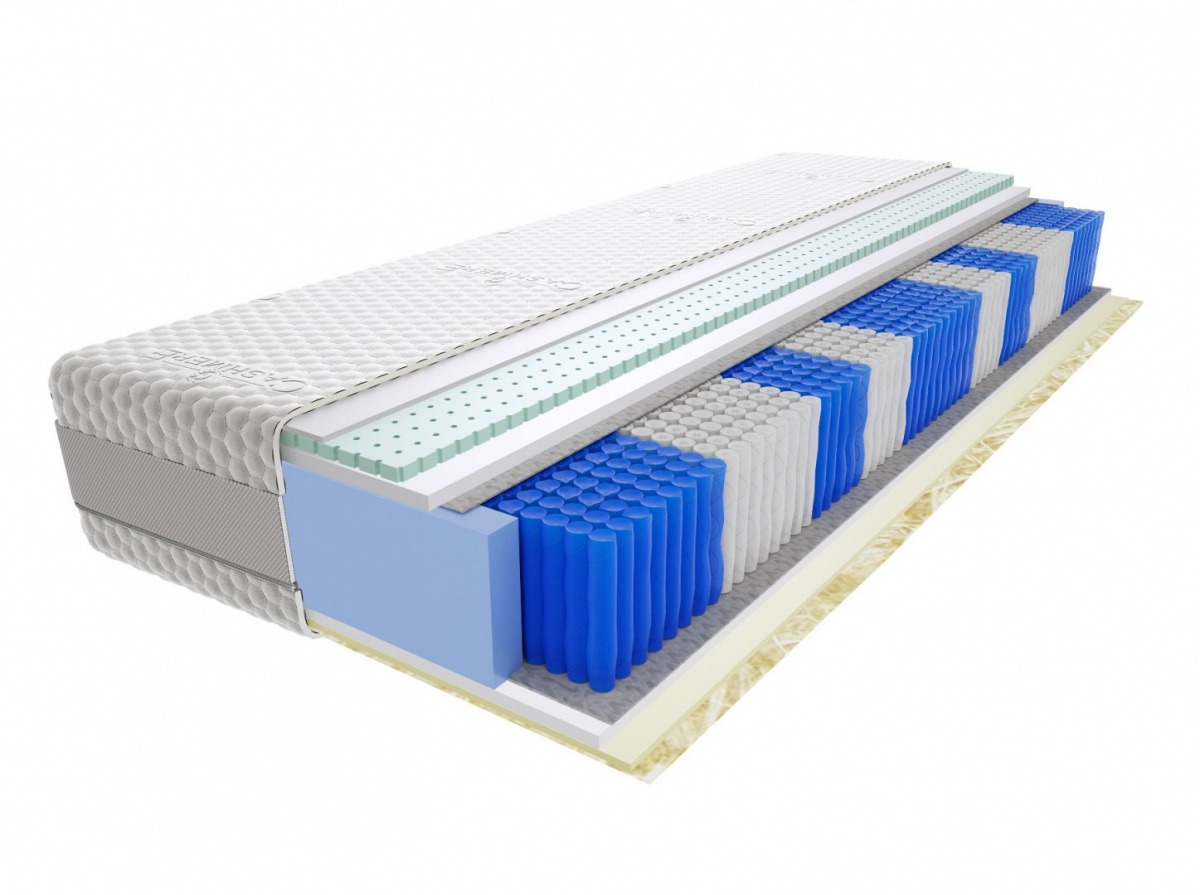 Image of Materac jaśmin multipocket 75x155 cm średnio twardy 2x lateks visco memory