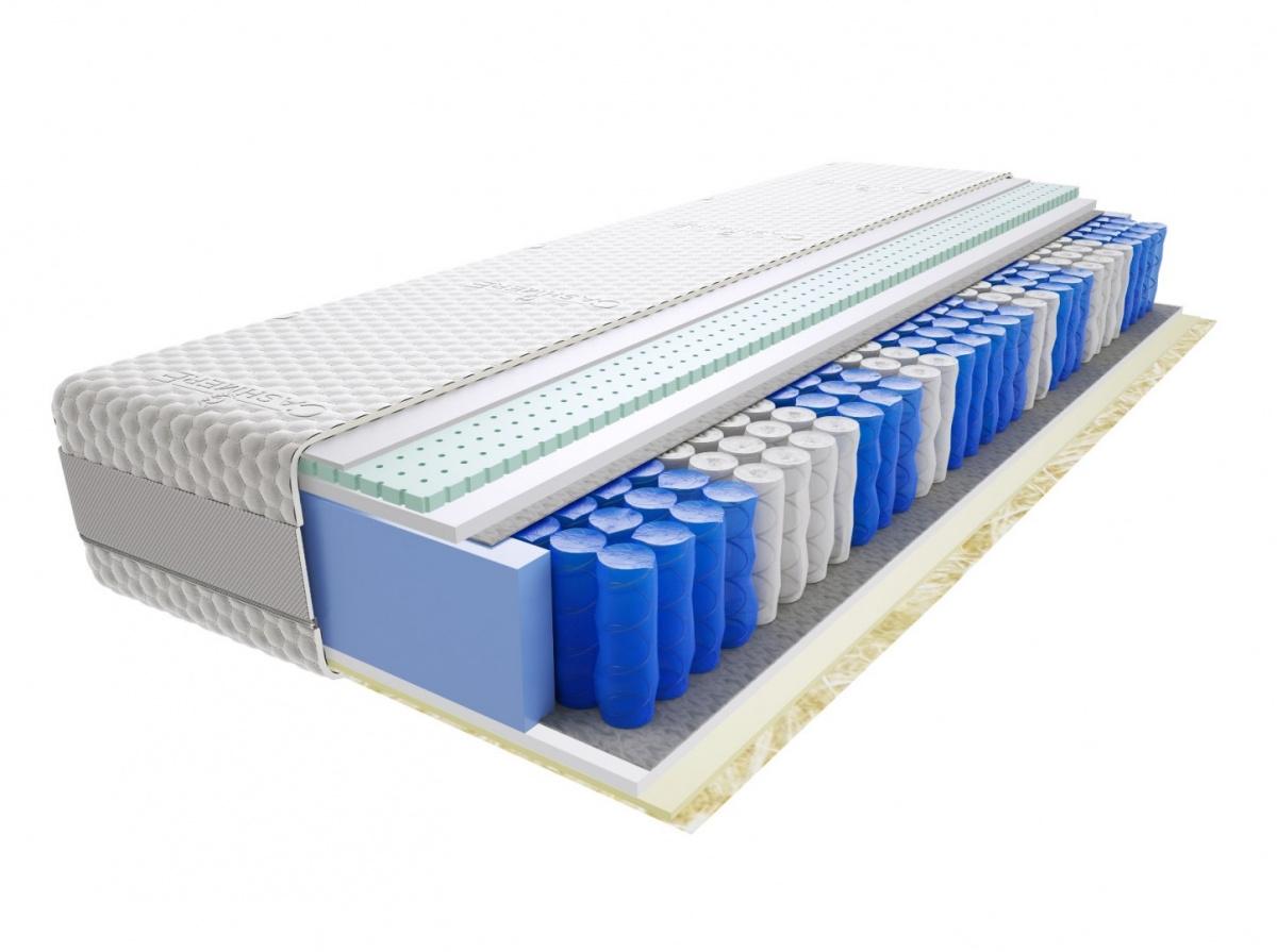 Image of Materac jaśmin 75x155 cm średnio twardy 2x lateks visco memory