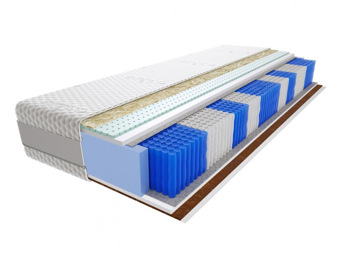 Image of Materac szanti multipocket100x215 cm średnio / bardzo twardy lateks 2x kokos