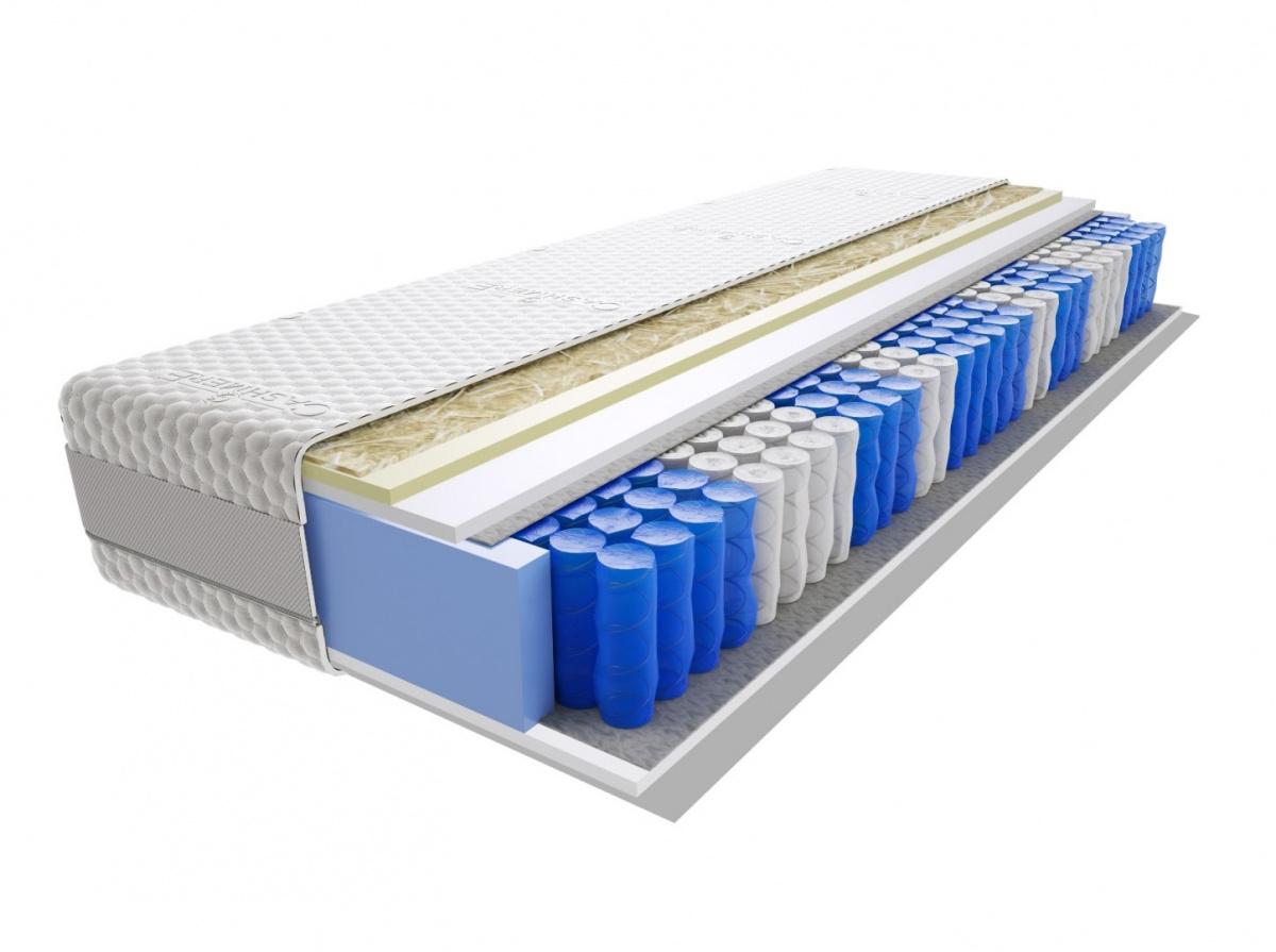 Image of Materac rima mini 120x155 cm miękki średnio twardy 2x visco memory
