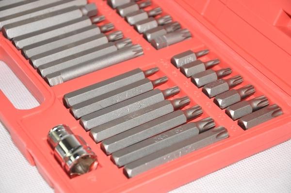Image of Zestaw bitów bity torx hex spline 40 sztuk pudełko