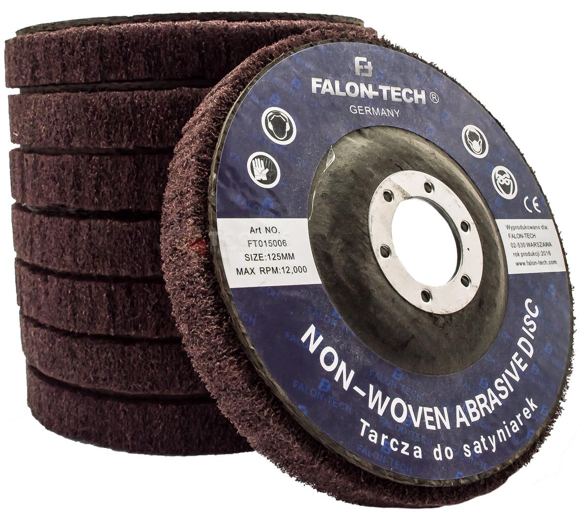 Image of Tarcza do metalu włóknina ściernica 125mm satyniarek falon