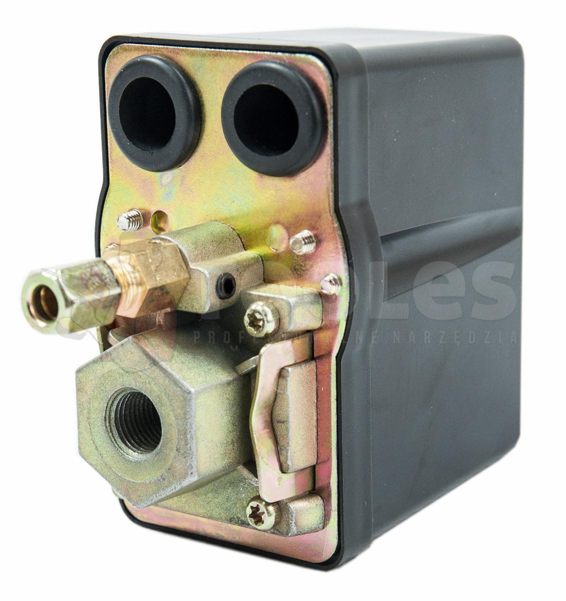 Image of Presostat wyłącznik ciśnieniowy do kompresora 400v 12bar (bez manometru) geko