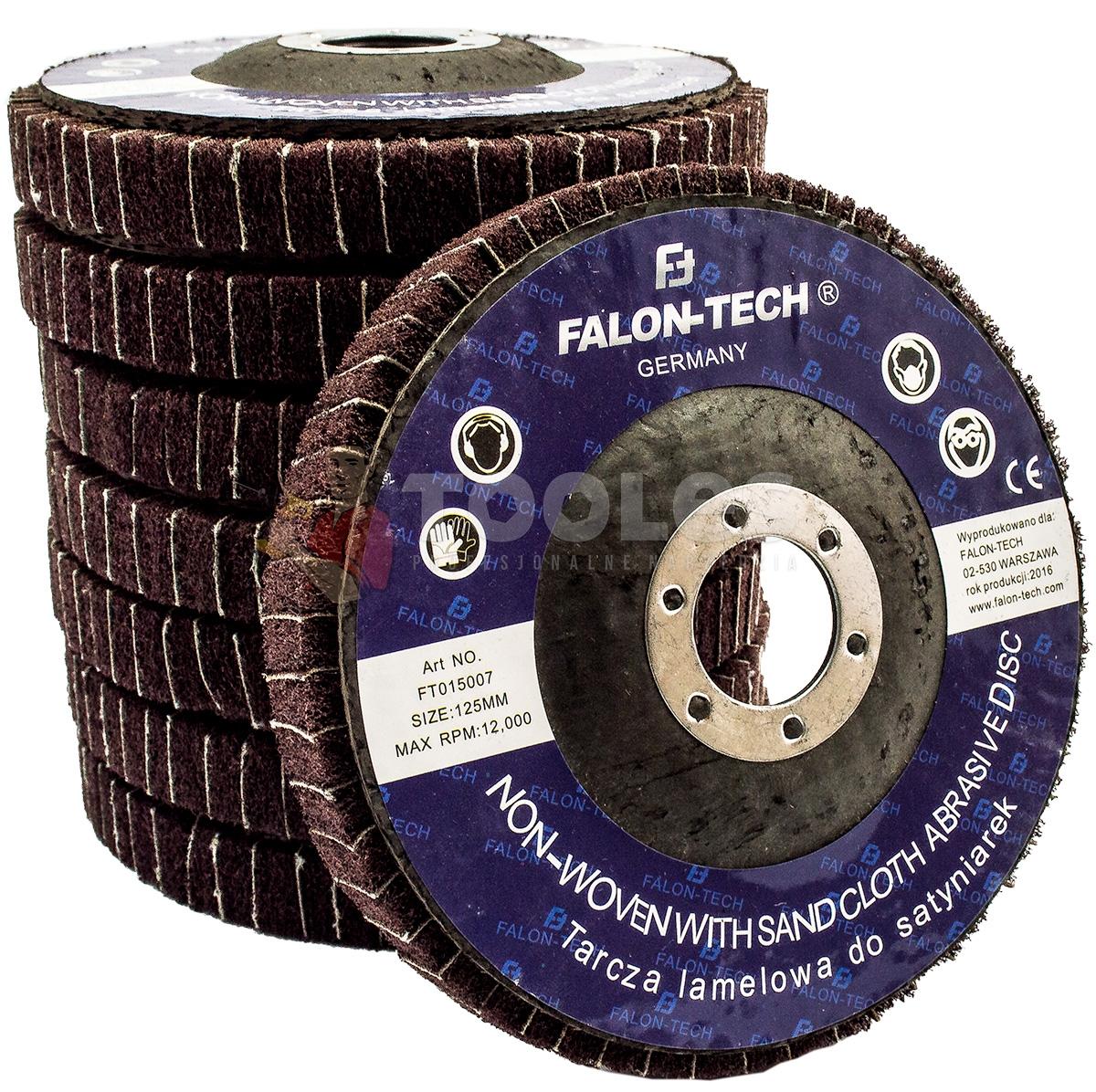 Image of Tarcza do metalu włóknina lamelkowa 125mm ściernica satyniarek falon