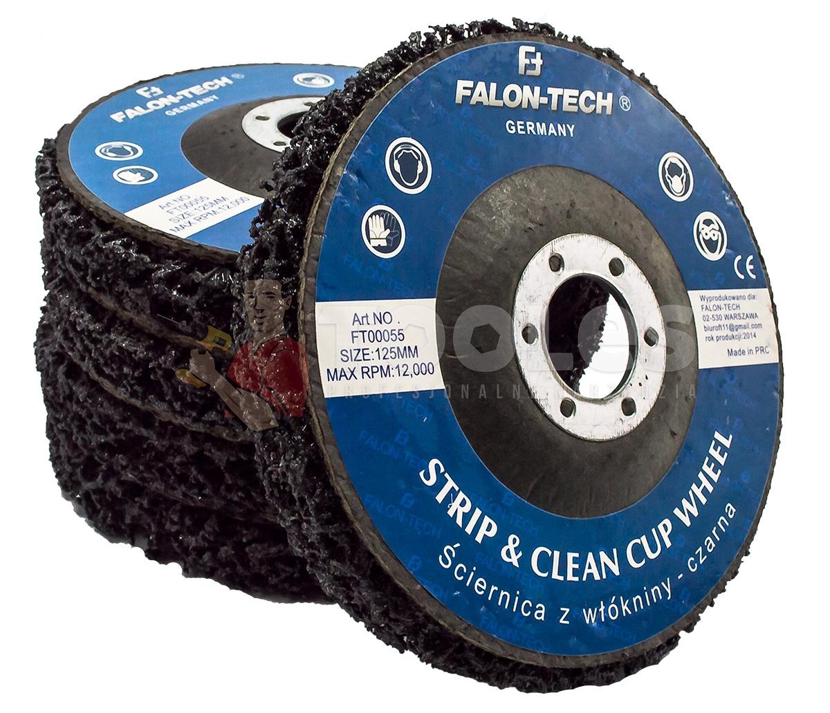Image of Tarcza ścierna z włókniny 125x22mm ściernica inox falon-tech
