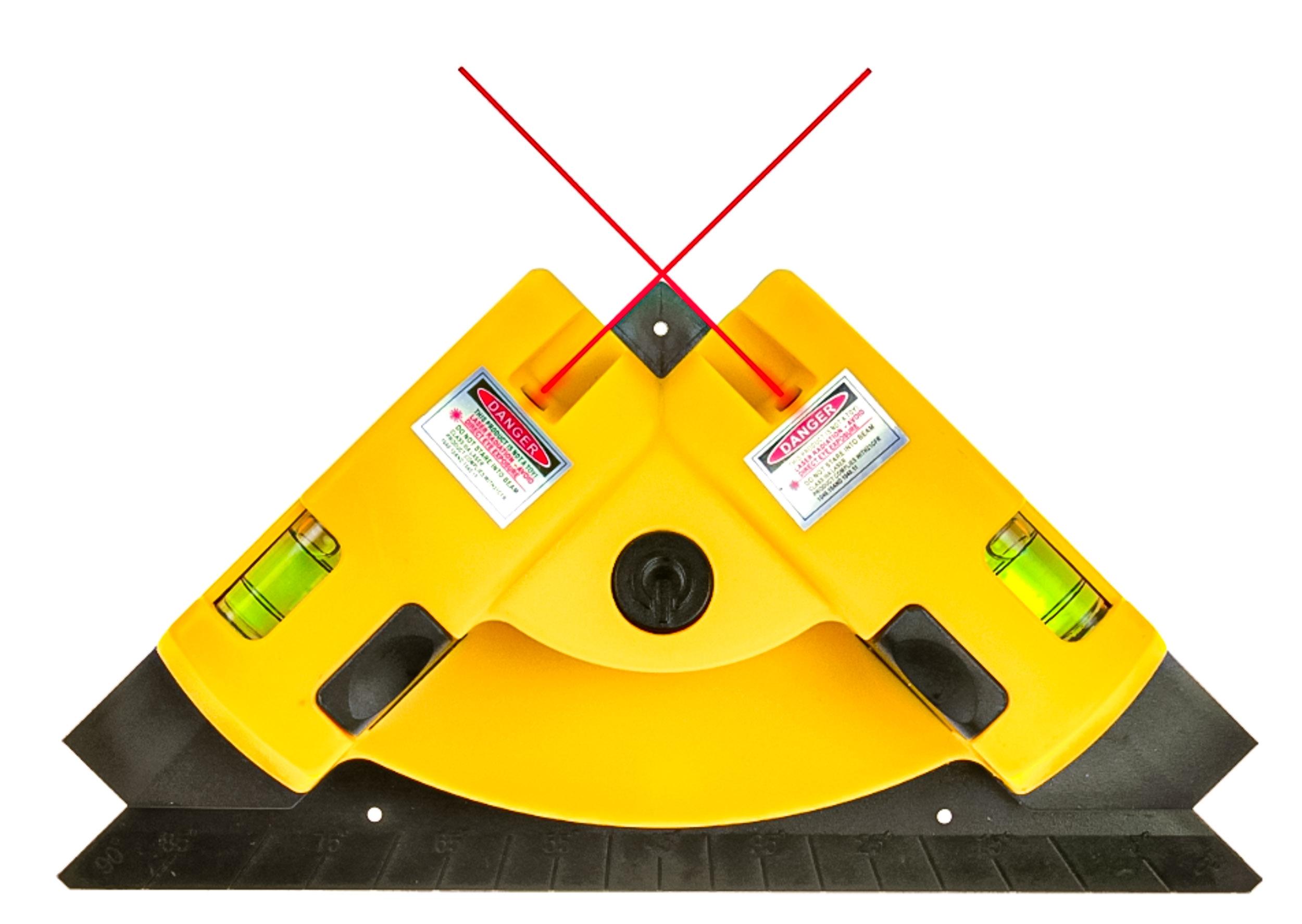 Image of Poziomica laserowa do płytek laser kątowy 2 linie geko