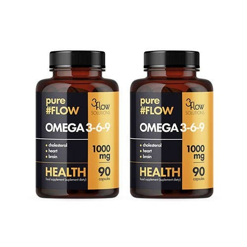 Image of 3flow solutions omega 3-6-9 1000mg pureflow - 2x 90caps