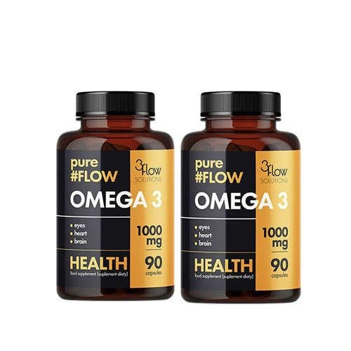 Image of 3flow solutions omega 3 1000mg pureflow - 2x90caps.