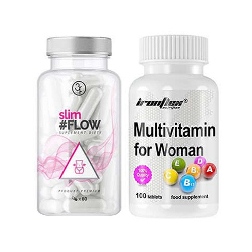 Image of 3flow solutions 3flow solutions slimflow - 60caps + ironflex multivitamin for women - 100tabs.