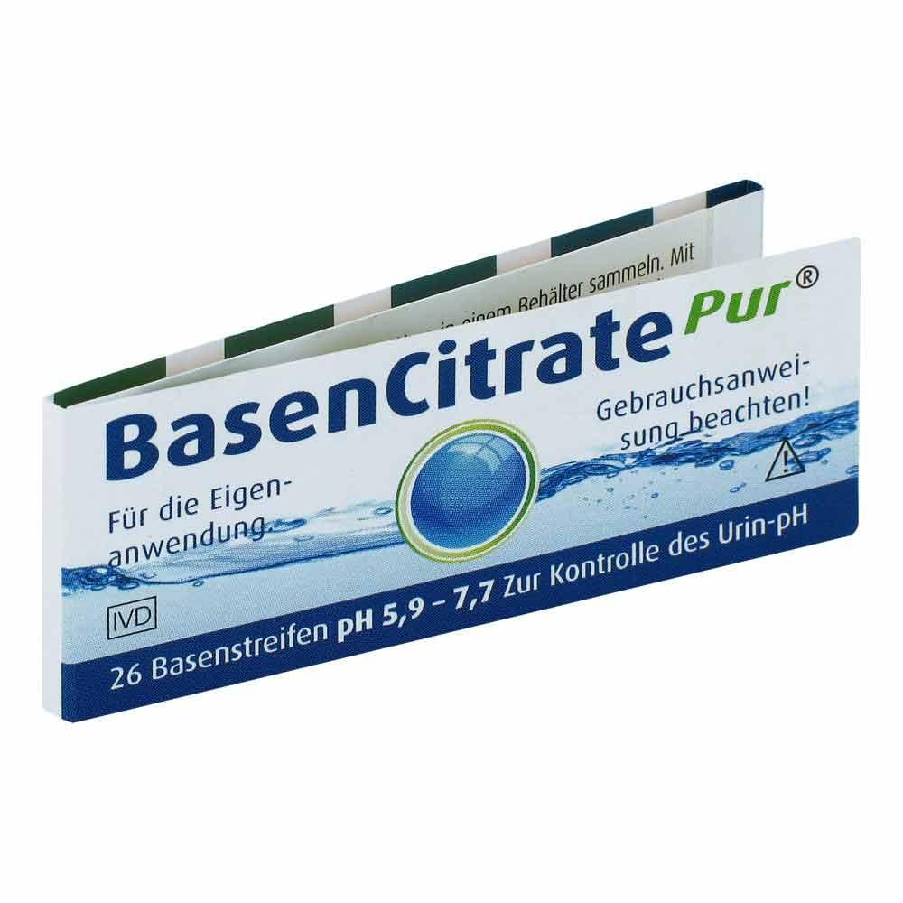Image of Basen citrate pur paski testowe (ph 5,9-7,7)