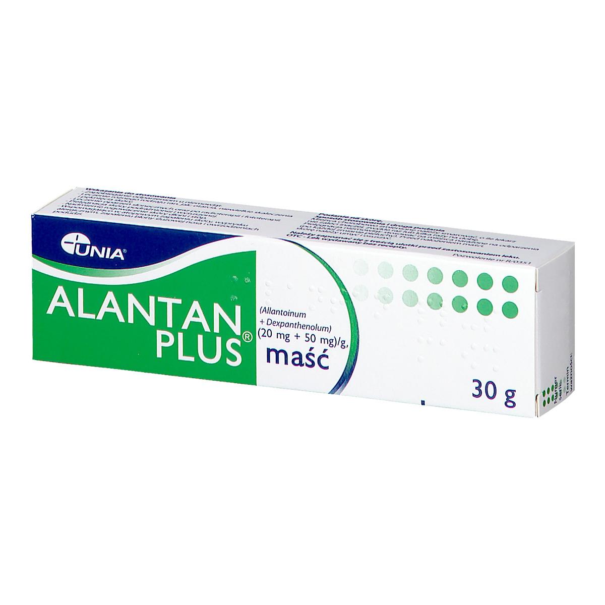 Image of Alantan plus maść (20mg+50mg/g)