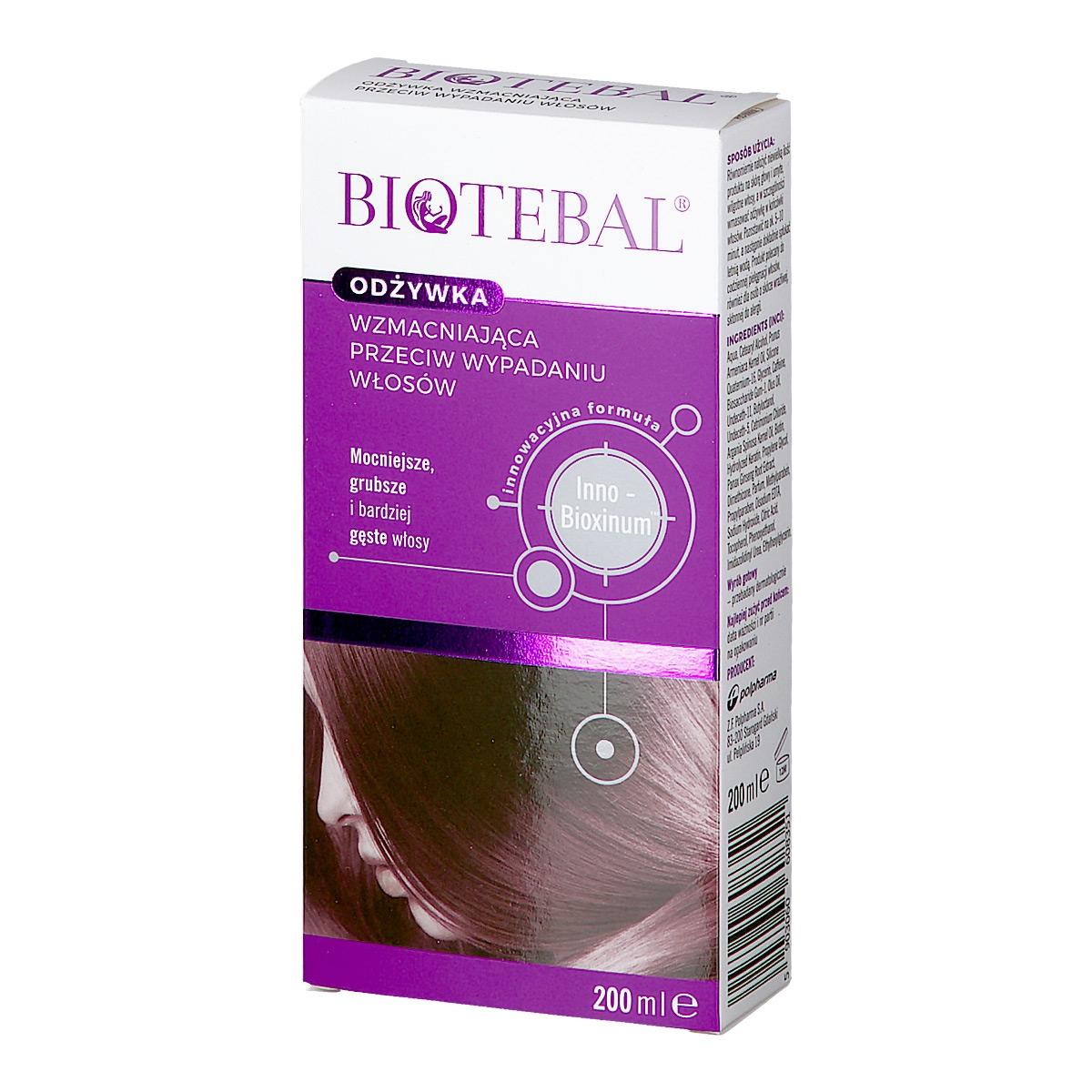 Image of Biotebal odżywka do włosów wypadających