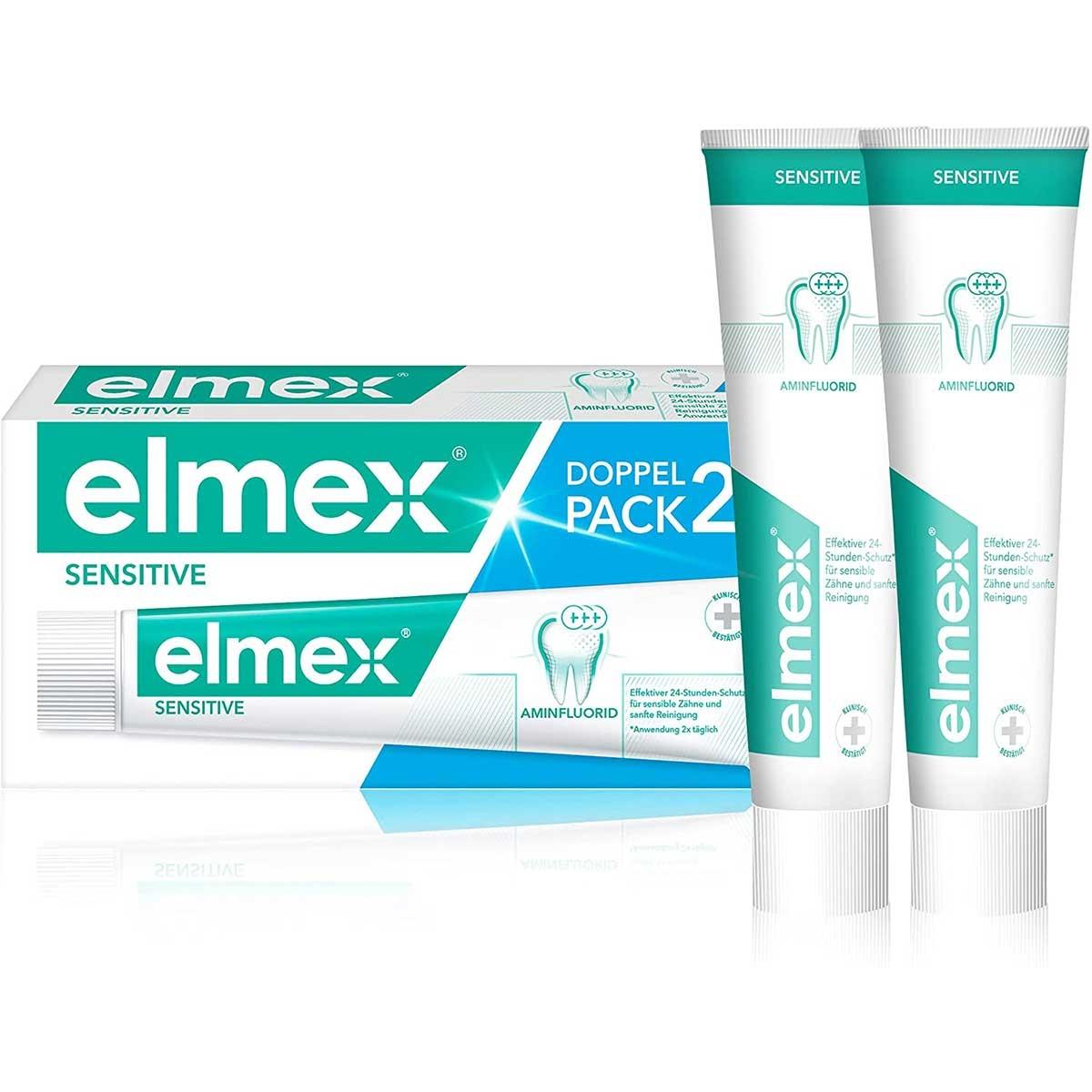 Image of Elmex sensitive pasta do zębów, dwupak