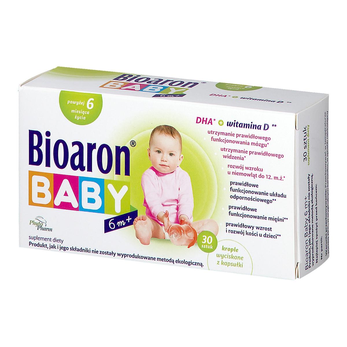 Image of Bioaron baby od 6 m-ca krople wyciskane z kapsułki