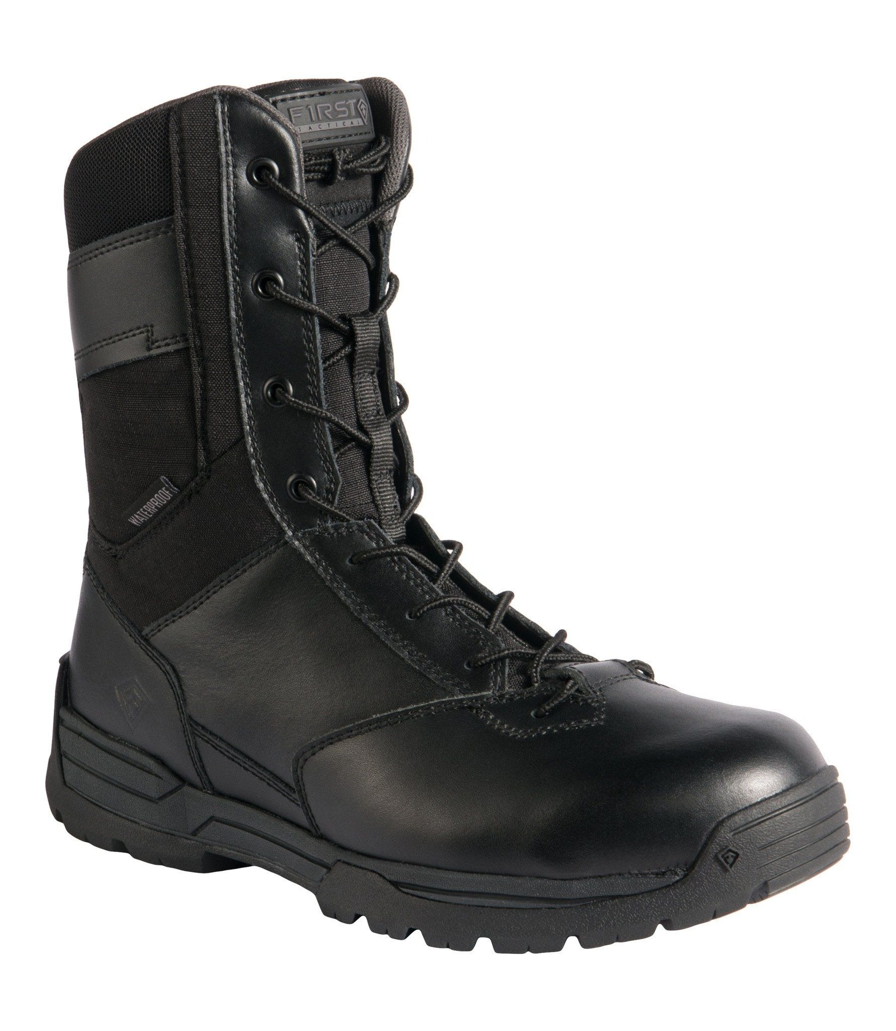 "Image of Buty first tactical m's 8"" wp side zip duty 165003 - kolor czarny (019), rozmiar (a) 44 (u1t/165003 019 9,5 - 44)"
