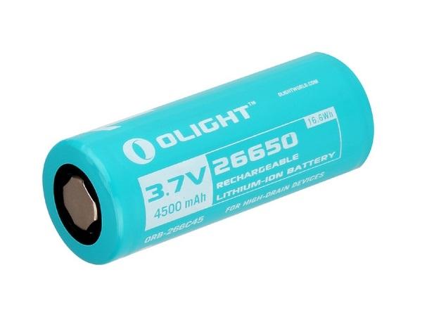 Image of Akumulator 3,7v olight 26650 4500 mah (orb-266c45)