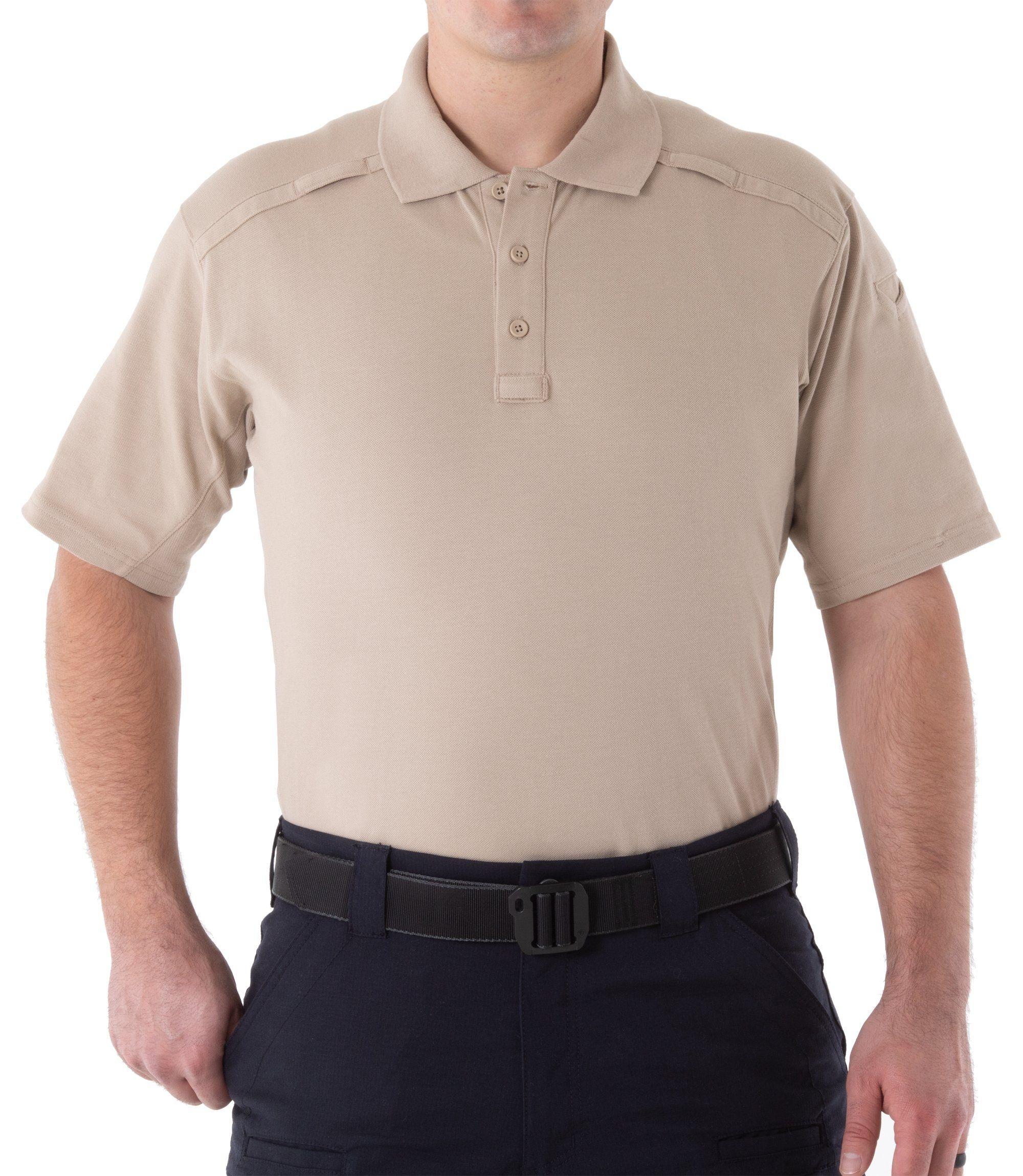Image of Koszula polo z kieszonką na długopis 112508 khaki - rozmiar (a) l (u1t/112508 055 l)
