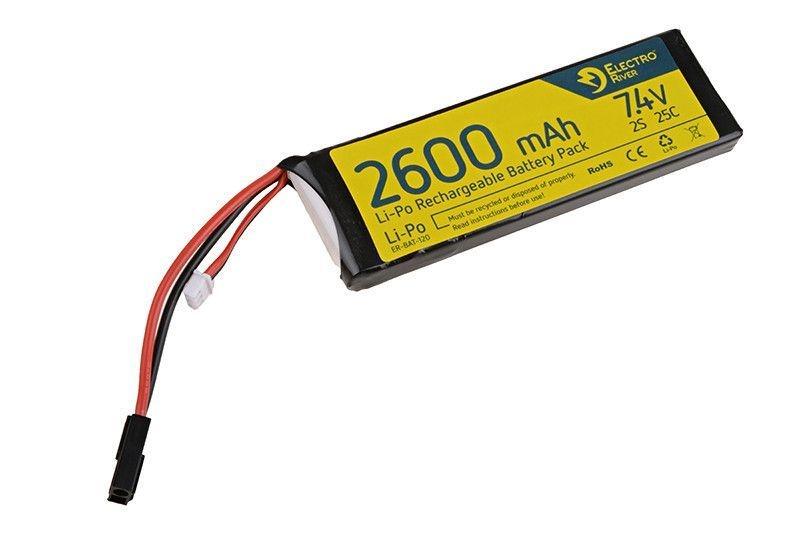 Image of Akumulator lipo 7,4v 2600mah 25/50c (elr-06-008317)