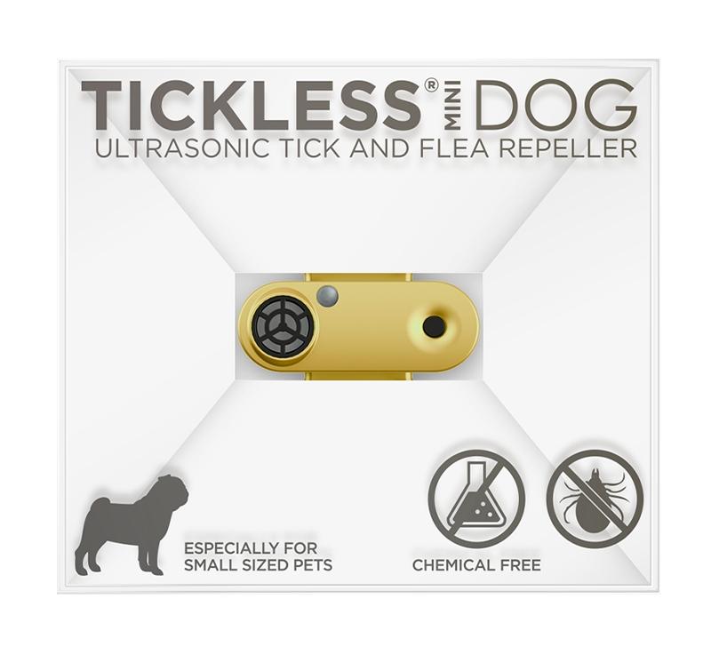 Image of Odstraszacz kleszczy, ultradźwiękowy, dla zwierząt tickless pet mini, złoty