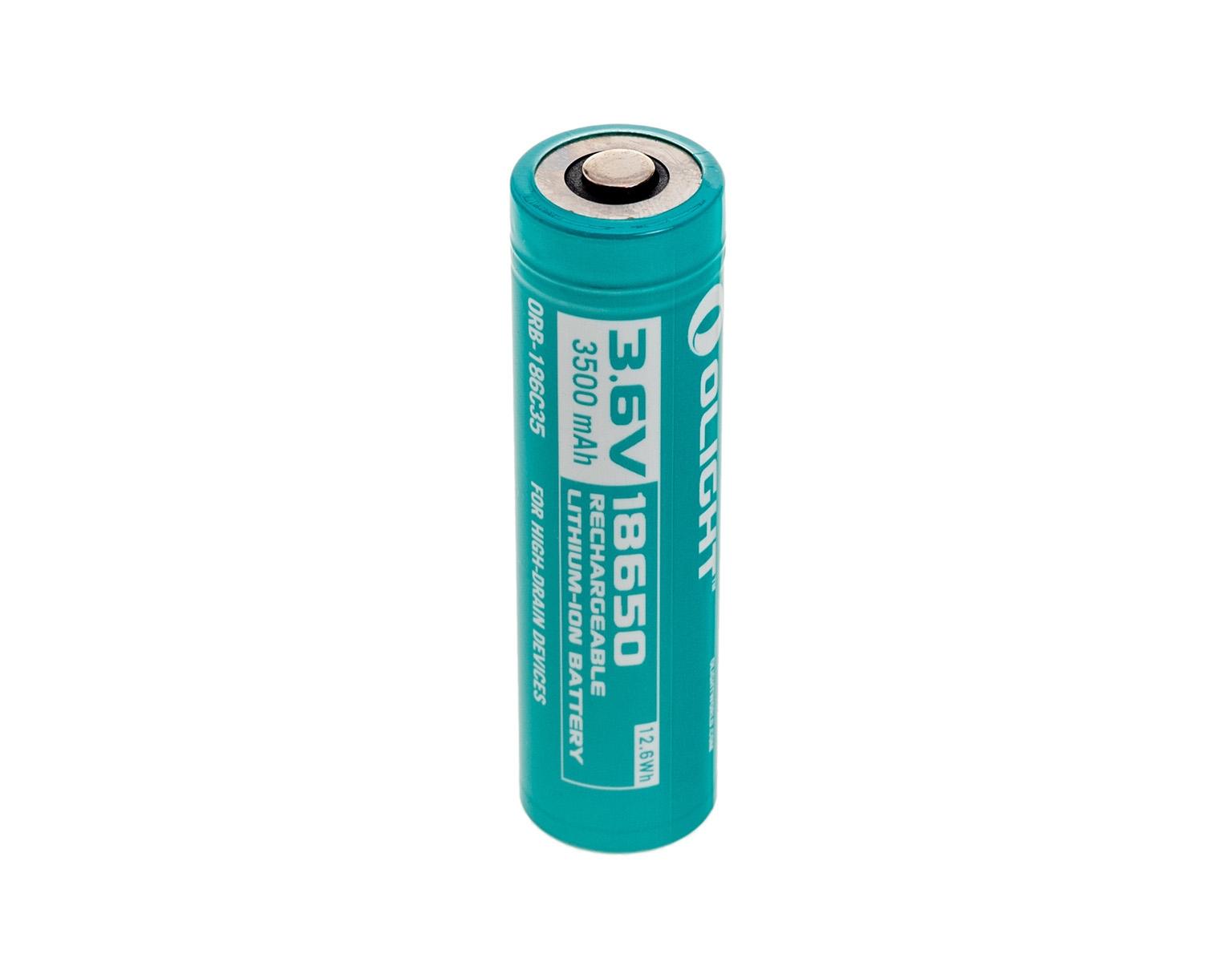 Image of Akumulator 3,6v olight 18650 do latarki s30r - 3500 mah (orb-186c35)