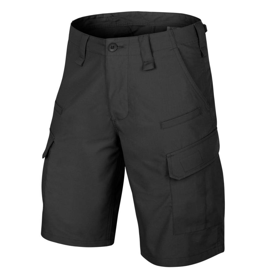 Image of Krótkie spodnie cpu - polycotton ripstop - czarny-black - xs (sp-cpk-pr-01-b02)
