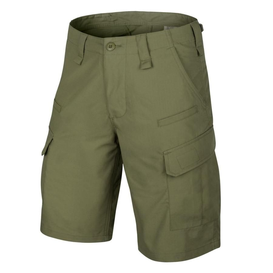 Image of Krótkie spodnie cpu - polycotton ripstop - olive green - xs (sp-cpk-pr-02-b02)