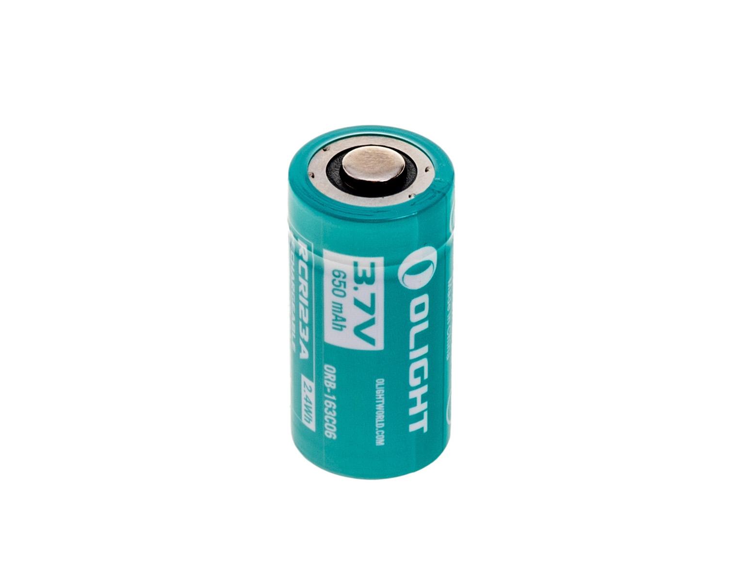 Image of Akumulator 3,7v olight rcr123a do latarki h1r - 650 mah (orb-163c06)