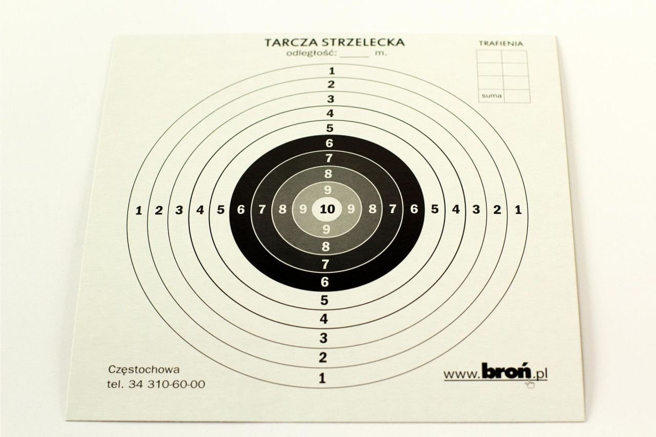 Image of Tarcze papierowe 14x14 cm 100 szt. (3.1414)