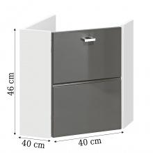 Image of Narożna szafka łazienkowa pod umywalkę finka biały/grafit