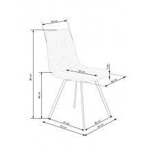Krzesło pikowane k402 86 cm popielate melanż nowoczesne