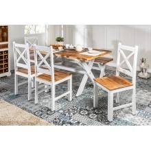 Image of Drewniane krzesło do jadalni long island 103 cm mango handmade