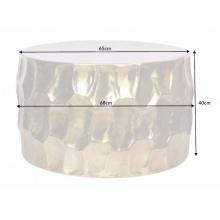 Image of Aluminiowy stolik kawowy organic orient 68 cm złoty handmade