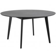 Stół okrągły do jadalni 140 cm roxby czarny
