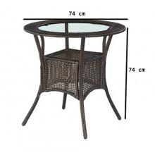 Stół ogrodowy midas 74 cm br? zowy