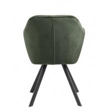 Image of Ciemnozielone krzesło z podłokietnikami lola pikowane welur