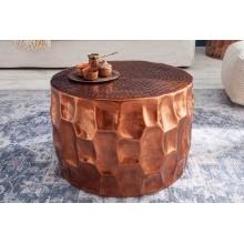 Image of Aluminiowy stolik kawowy organic orient 53 cm miedziany pomarańczowy handmade