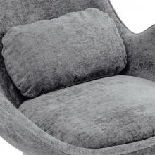 Fotel obrotowy salamanka futrzak szary/czarne nogi
