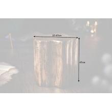 Image of Aluminiowy stolik kawowy organic orient 40 cm złoty handmade