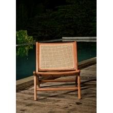Image of Drewniany fotel rattanowy ngali teczyna rattan handmade boho