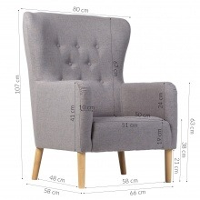 Image of Fotel do salonu sali new skandynawski