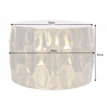 Image of Aluminiowy stolik kawowy organic orient 53 cm złoty handmade
