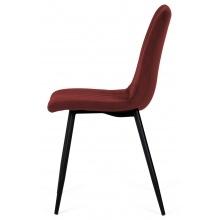 Krzesło z przeszyciami slay bordowe welur