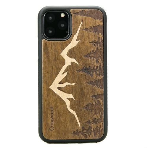 Image of Drewniane etui bewood iphone 11 pro góry imbuia