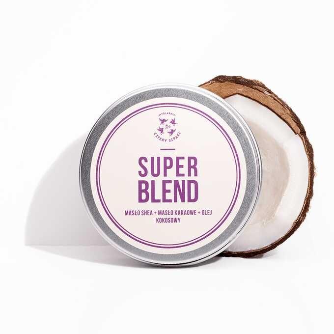 Image of 4 szpaki masło super blend - shea + kakao + kokos 150ml