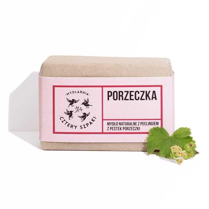 Image of 4 szpaki mydło porzeczka z peelingiem 110g