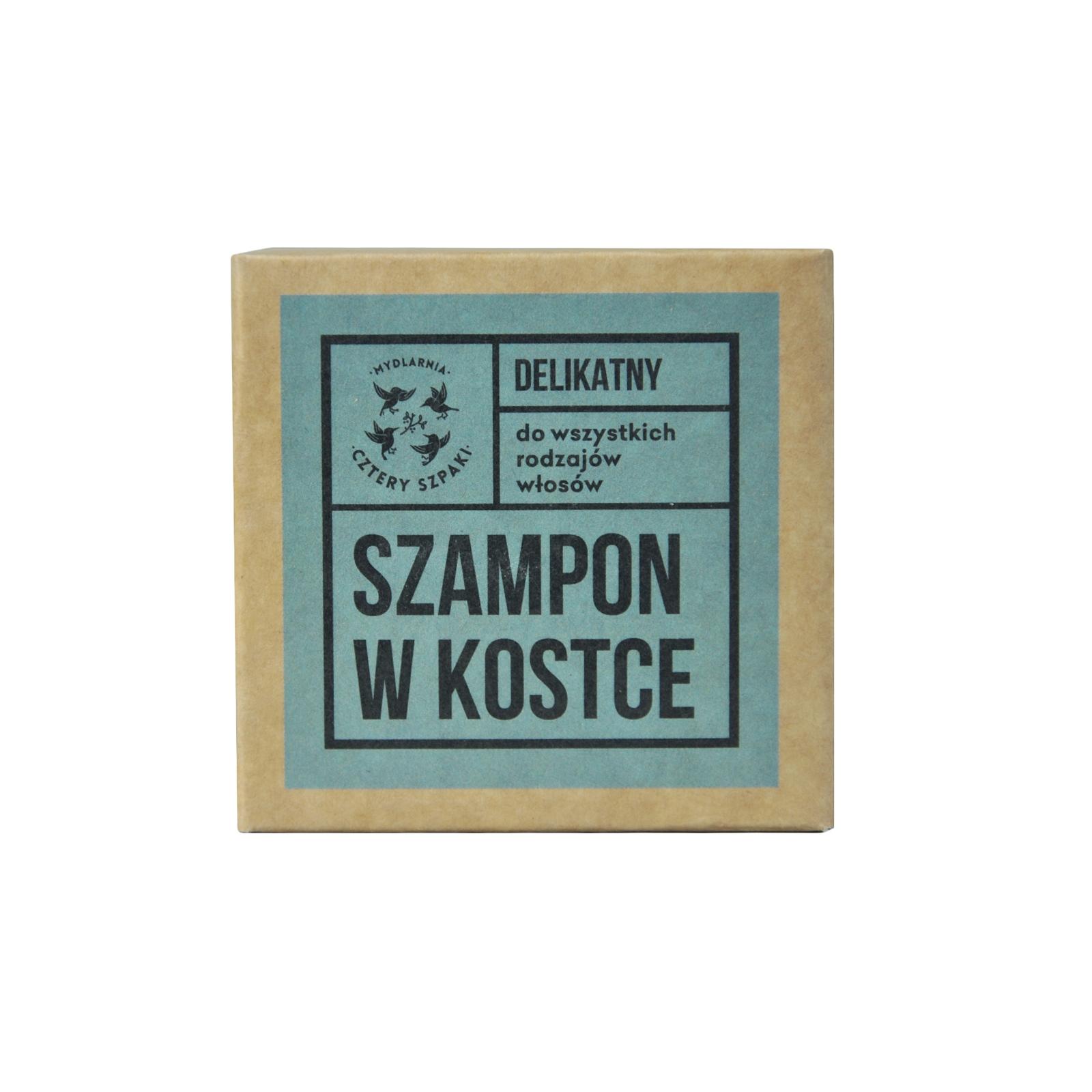 Image of 4 szpaki szampon w kostce - delikatny 75g