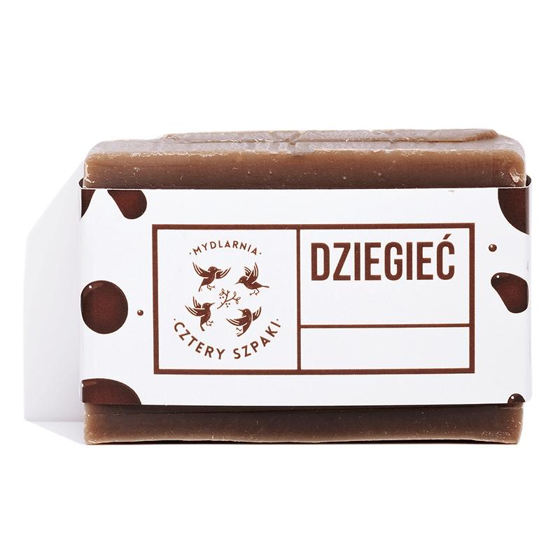 Image of 4 szpaki mydło dziegciowe na problemy skórne 110g