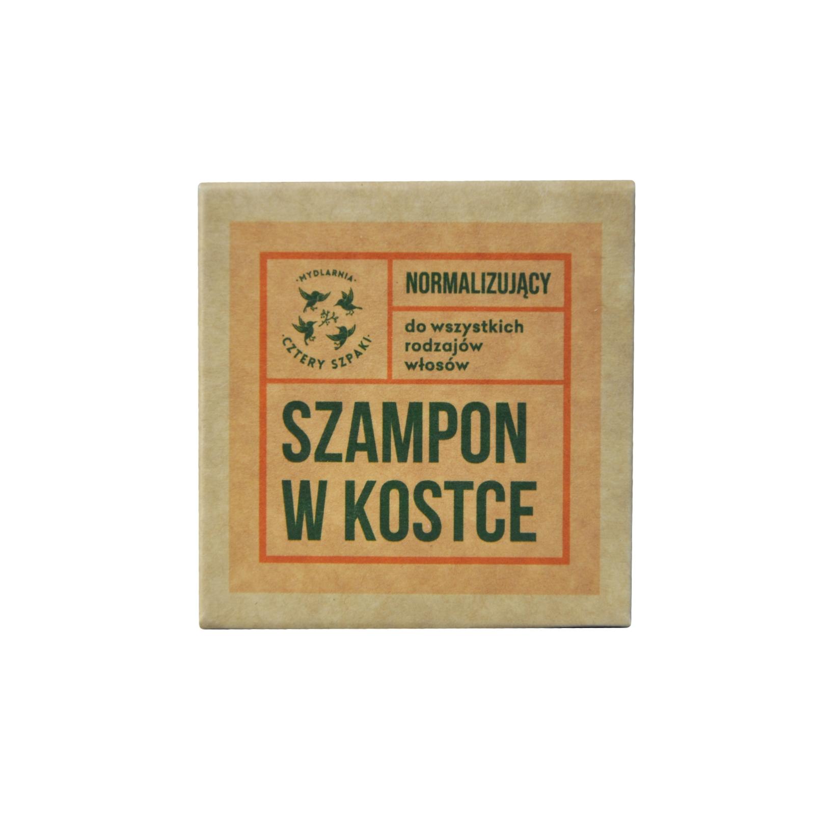 Image of 4 szpaki szampon w kostce - normalizujący 75g