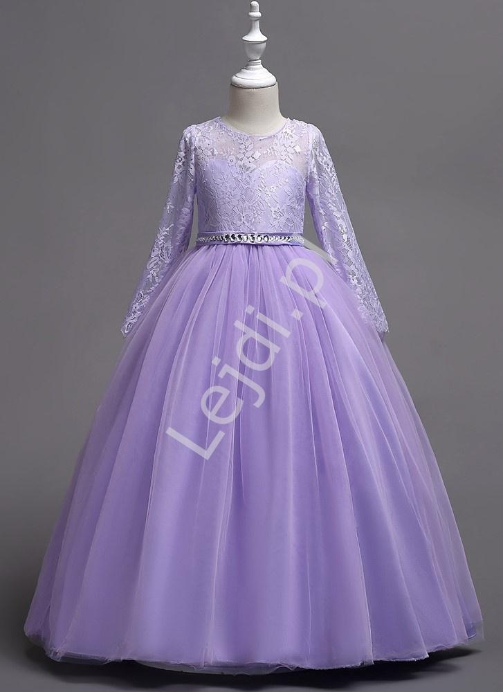 Image of Balowa suknia dziecięca dla dziewczynki w kolorze jasnego fioletu 023