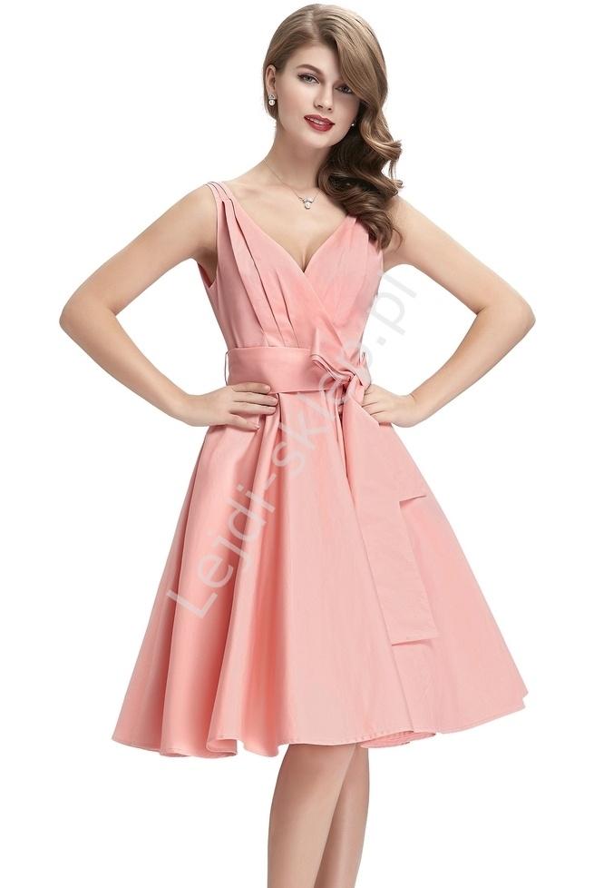 Bawełniana sukienka w stylu vintage, lata 60-te 8955